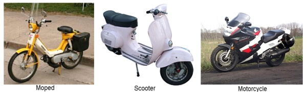 Moped, Scooter, Motorcycle